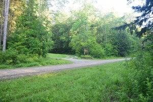 Entrance to Old CCC Camp Seneca and bivouac area of Hungry Hollow Rd