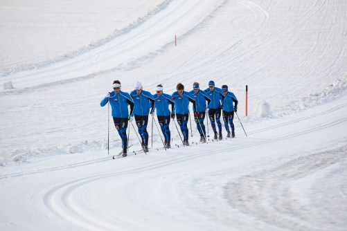 Help send these guys (including me) and the ladies to Europa Cup racing. (Glacier training this summer. Chris Hodel photo.)