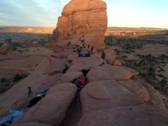 Gahh. Too many people waiting for sunrise at Delicate arch.