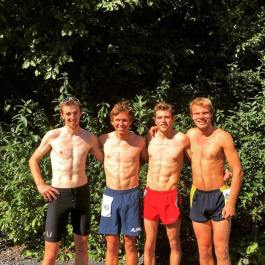 Post race team photo with left to right: Jake Moe, Me, Ryan Cox, Jacob Kirk.