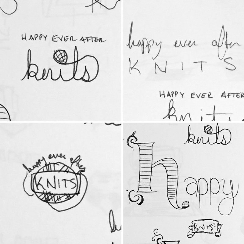 Happy Ever After Knits Thumbnal Sketches
