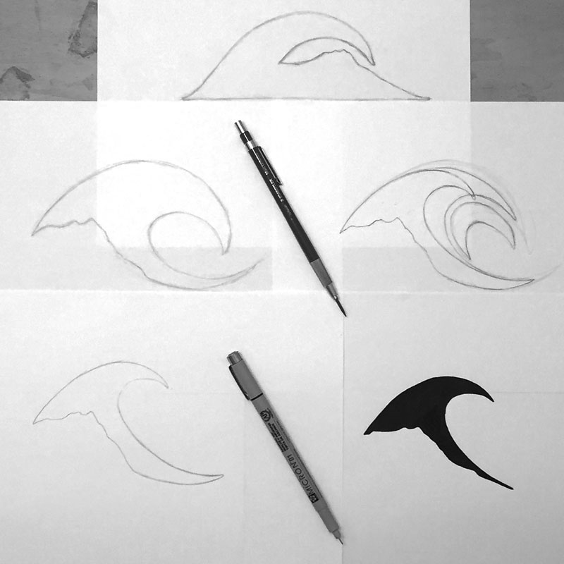 Kuahiwi Surf Shop Logo Refinement