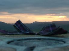 Our ribbon at the top of a mountain
