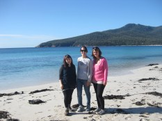 Me, Emma and Kirsten at Wineglass Bay