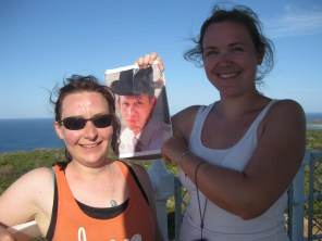 George atop Cape Naturaliste's lighthouse