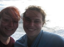 Me and my German friend Tanja windswept but proud after our whale sharking :-)
