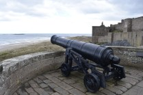 Guns at Bamburgh Castle