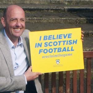 Gary McAllister launching the SFSA campaign
