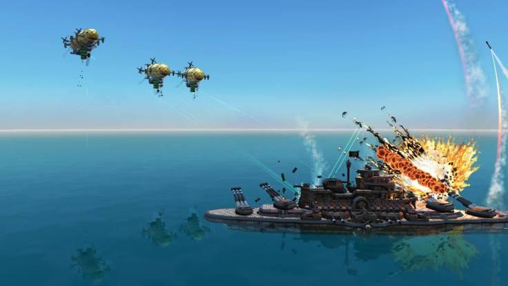 From the Depths - battleship v airships