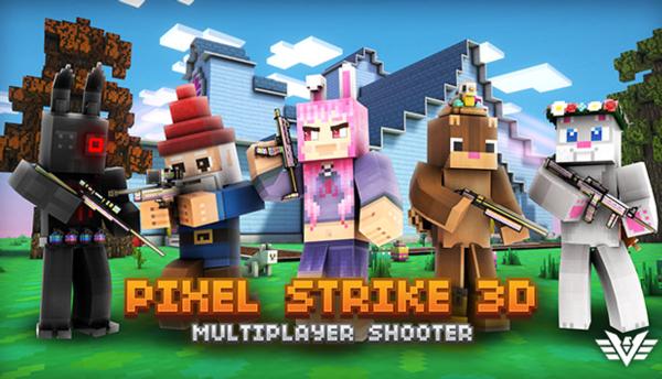 Pixel Strike 3D splash screen