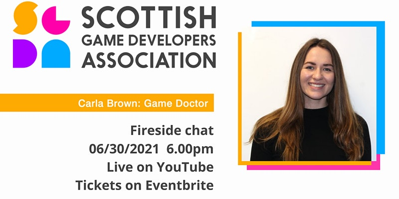 Dr Carla Brown. Game Doctor. SGDA Fireside Chat.