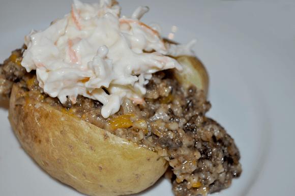 Haggis with Baked Potato
