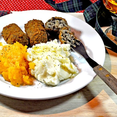 An Alternative to Traditional Haggis, Neeps and Tatties.  Great for Kids..