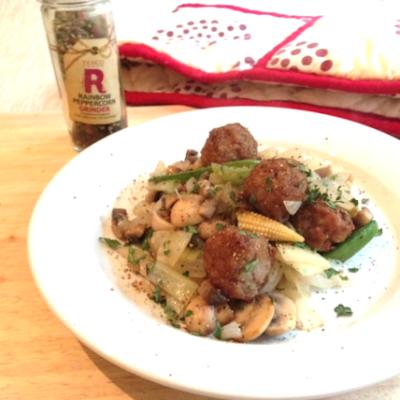 Meatballs and Vegetable Stir Fry Recipe
