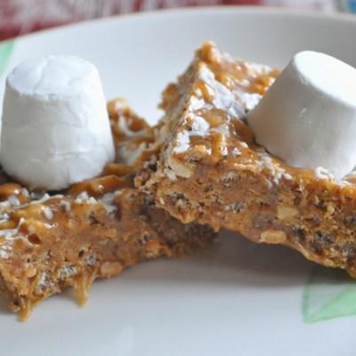 White Chocolate and Peanut Crispy Tiffin Recipe