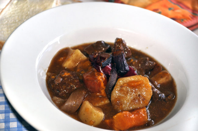 Steak and Sweet Potato Slow Cooked
