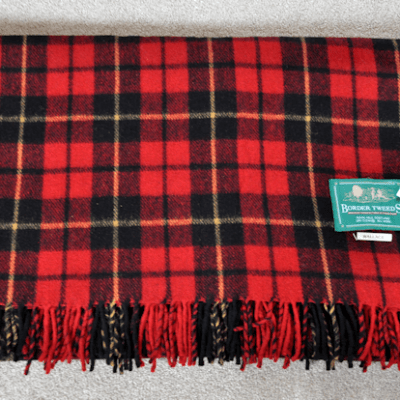 Review & Giveaway:  Wallace Tartan Blanket Rug from #BuyAKilt.com