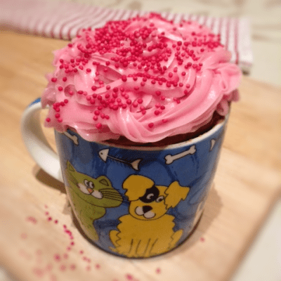 Cake In A Cup Recipe, with Flaked Almonds