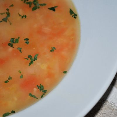 More delicious foodiness.  Turkey and Potato Soup made with Scotty Brand Potatoes