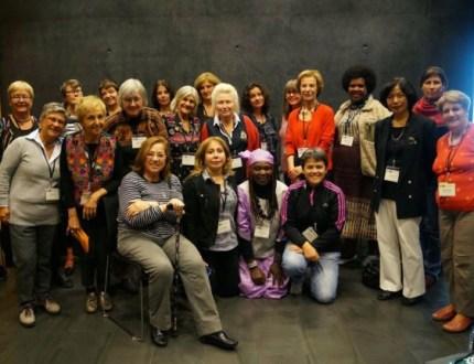 Group photo of 2013 Womens Committee meeting, PEN International Congress, Reykjavik