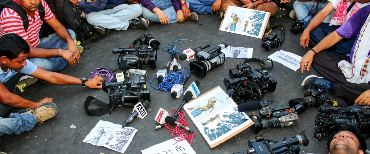 journalists protest in india