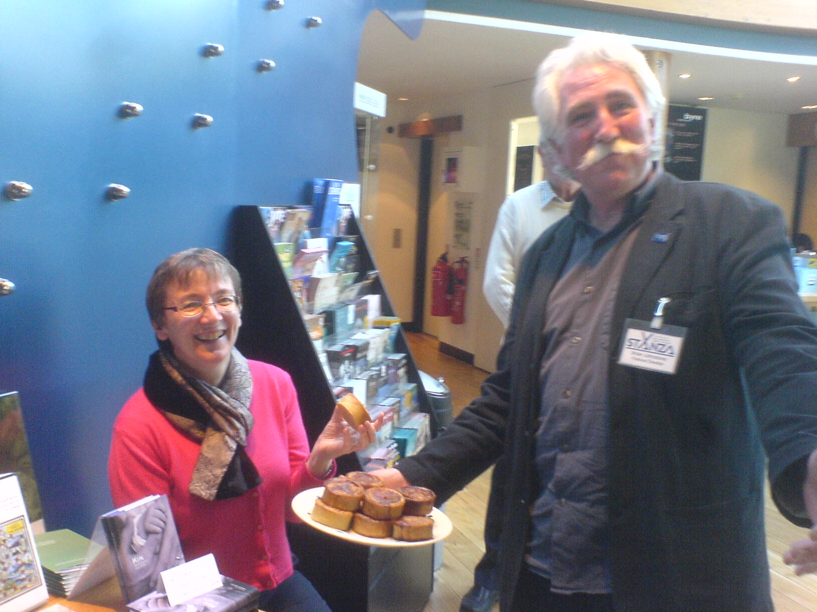 Robyn and Brian do three cheers for Stuart of Buckhaven's pies...