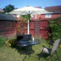 In My Garden Sitting WithContentment