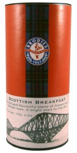 Brodies Scottish Teas in the distinctive drums only $8.99.  Available in Edinburgh Tattoo, Famous Edinburgh, Scottish Breakfast and Scottish Teatime.