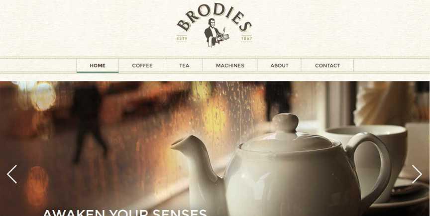 Brodies Tea new web site