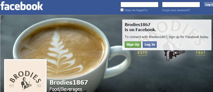 Brodies Tea on Facebook
