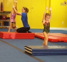 two handstands in gym