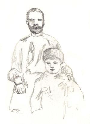 Nicholas and Alexei 1910