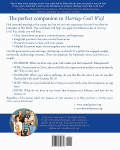Marriage God's Way Workbook by Scott LaPierre back cover