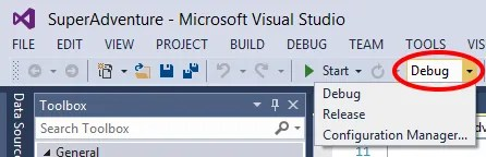 Visual Studio 2013 Debug Build Setting
