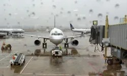 Airplane at the boarding gate