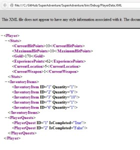 When viewing a valid XML file in a browser, it looks like a collapsible tree