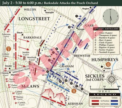 Peach Orchard Map