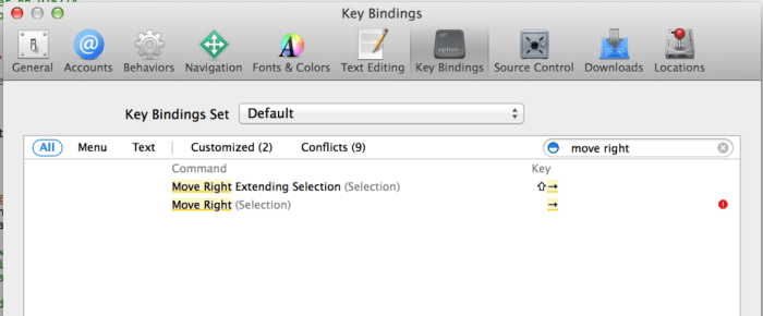 xcode_right_key_disabled