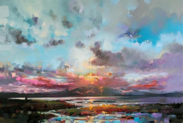 Arran Sky sescape painting by Scott Naismith