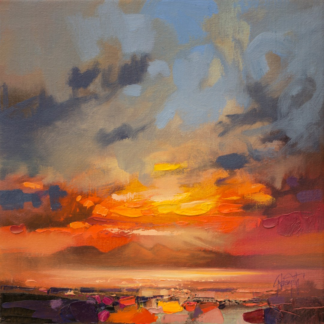 Isle of Rum painting by Scott Naismith