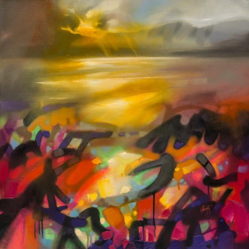 Clarity 2 Abstract landscape painting by Scott Naismith
