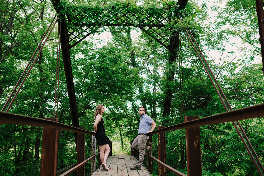 Columbia Missouri Summer Forest engagment Alex and Staci 001