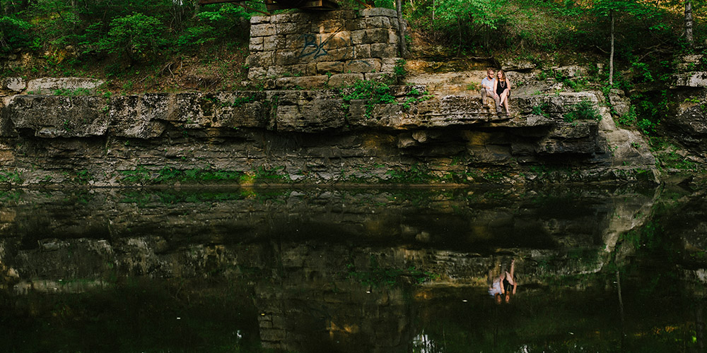 Columbia Missouri Summer Forest engagment Alex and Staci 005