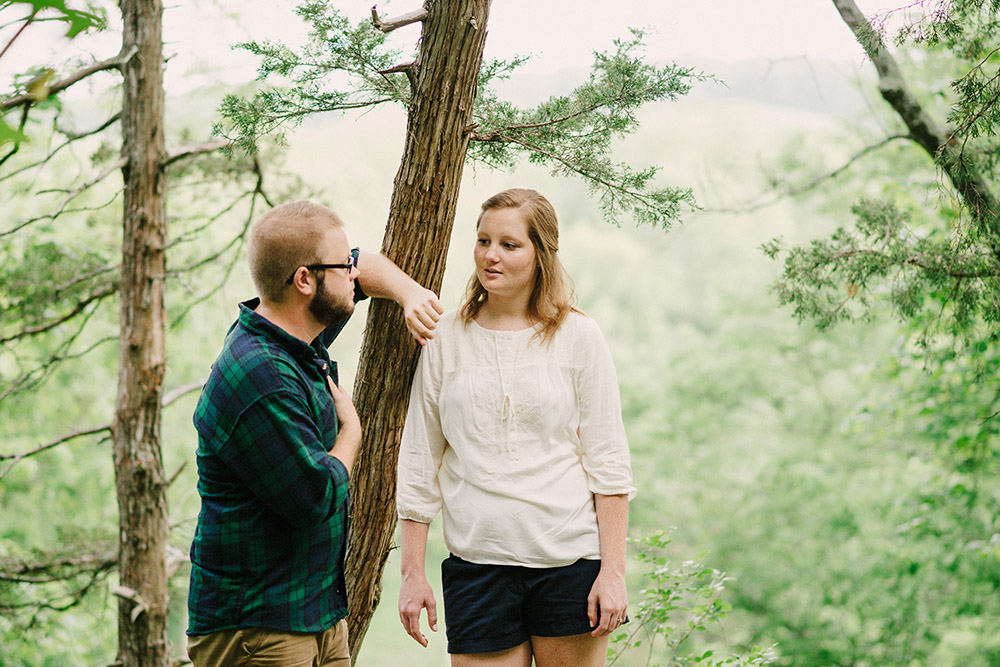 Columbia Missouri Summer Forest engagment Alex and Staci 010
