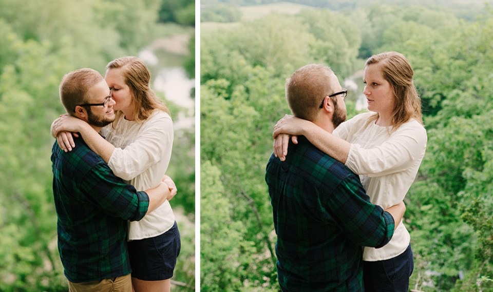 Columbia Missouri Summer Forest engagment Alex and Staci 012