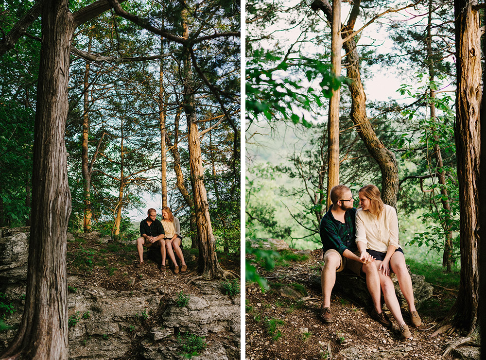 Columbia Missouri Summer Forest engagment Alex and Staci 016