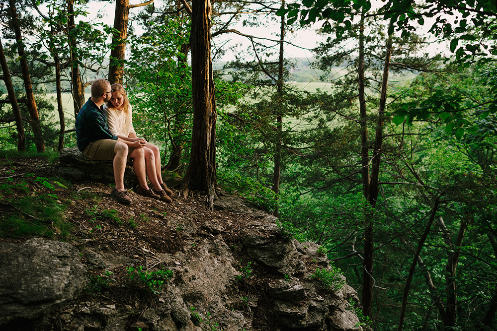 Columbia Missouri Summer Forest engagment Alex and Staci 017