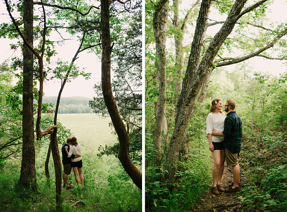Columbia Missouri Summer Forest engagment Alex and Staci 018