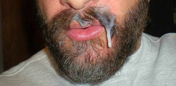 Cum Covered Stache