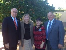 L to R: President and Sister Sweeney, Sister Allen, Elder Allen